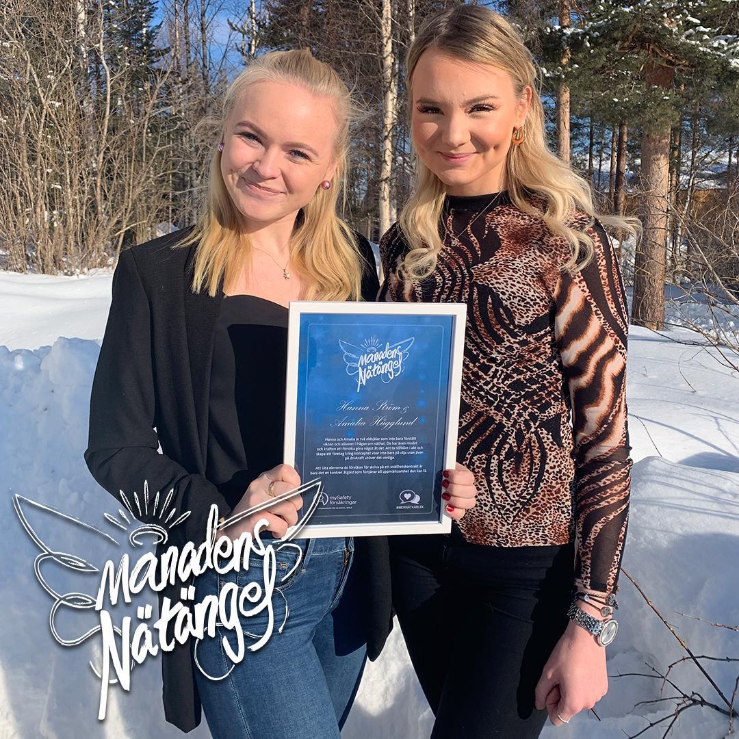 mtSafety Nätängel Februari 2019 Hanna & Amalia
